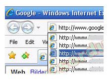 internet explorer'in URL Listesini Silin