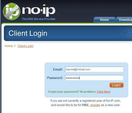 no ip client modül