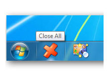 Bir tikla tüm açık uygulamaları kapatın (Close all)