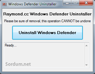 uninstall win defender