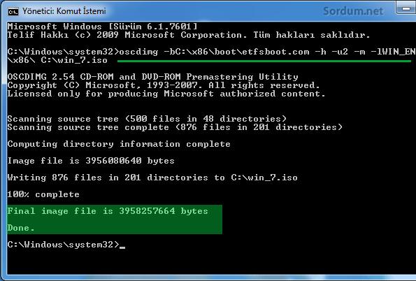 Windows 7 tüm sürümleri içeren aio olustu