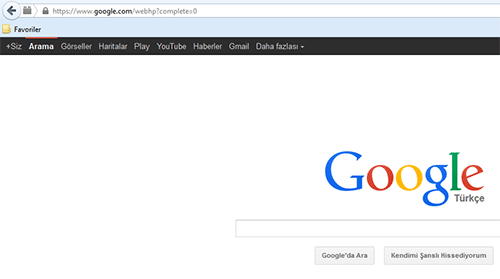 Eski google arayuzu