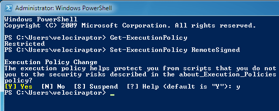 Power shell restricted