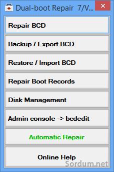 Dual boot repair