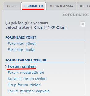 forum izinleri