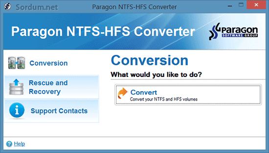 paragon NTFS-HFS Converter