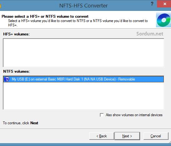 paragon_NTFS-HFS Converter dizinler