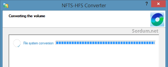 paragon ntfs hsf+ converting the volume