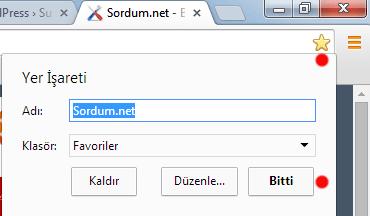 Chrome favori ekleme