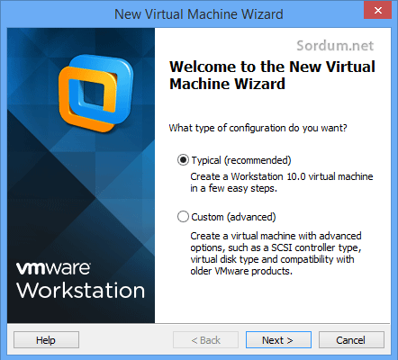 wmvare yeni sistem sonraki ekran