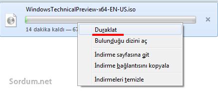 Firefox indirme duraklatıldı