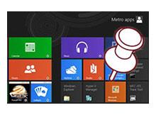 Windows 8 Başlangıç ekranına Kolayca dosya iliştirin