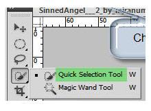 Photoshopta Quick selection tool yardımı ile obje seçimi