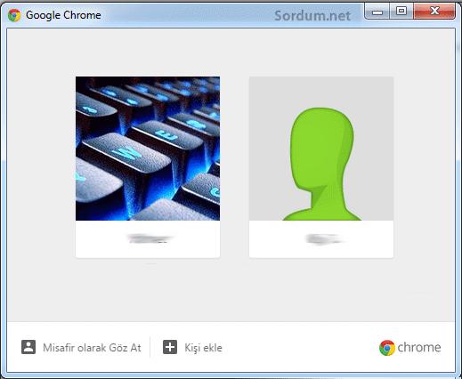 Chromede profil yönet