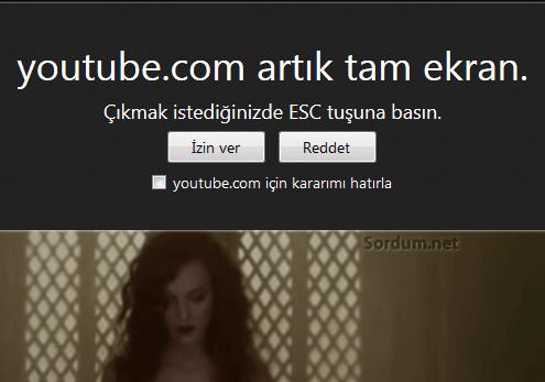 Firefox youtubetam ekran uyarısı