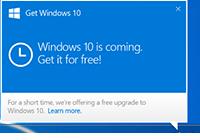 Windows 10 u rezerve edin yada alın uyarınısın kaldırmak - çıkartmak