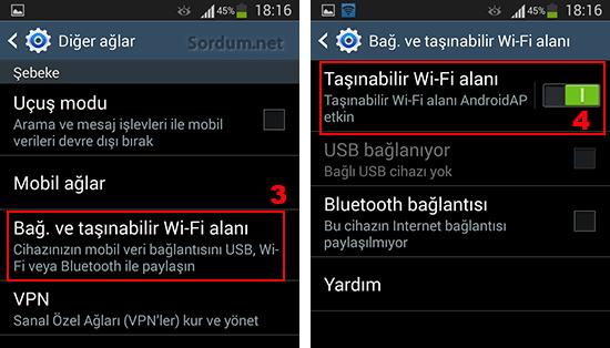 Galaxy s3 taşınabilir Wifi