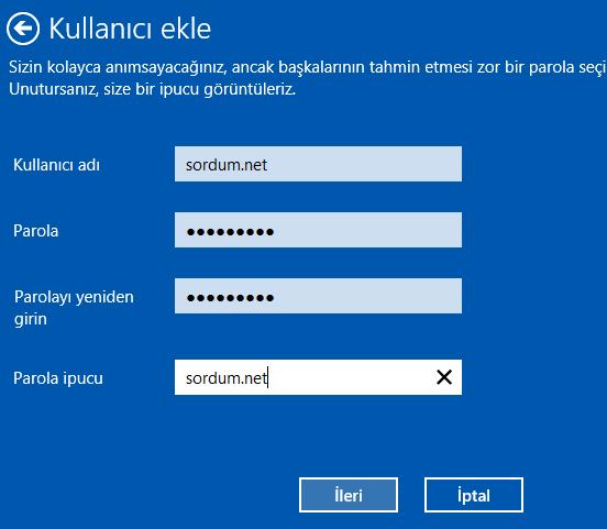 kullanıcı adı ve şifre giriyoruz