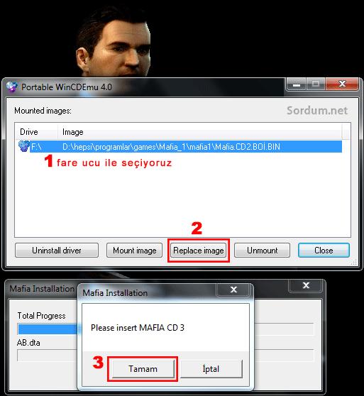 Oyun  üçüncü kalıp dosyasını istiyor