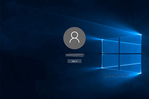Windows 10 oturum açma ekrani