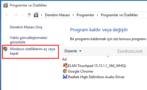 Win 10 windows ozellikleri