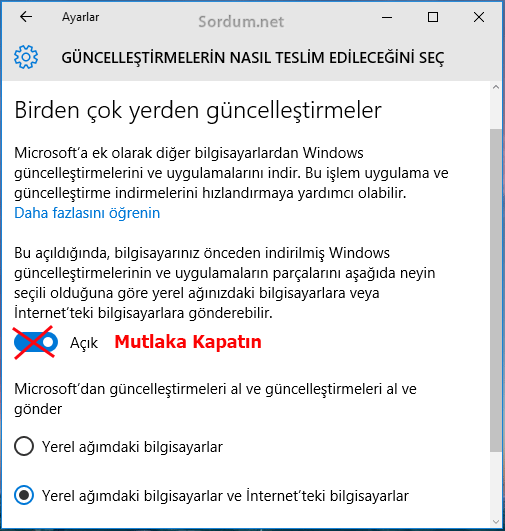 Windows 10 wudo açık