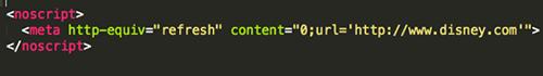 noscript-redirect