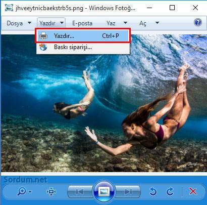 Windows 10 da Fotoğrafı pdf ye çeviriyoruz