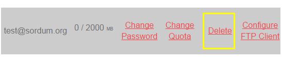 Cpanelden FTP hesabını silme