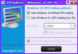 Windows 10 Dpi fix
