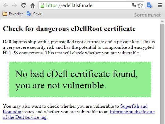 Dell zararlısı yok