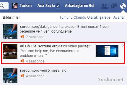 facebooktan programsız video indirme