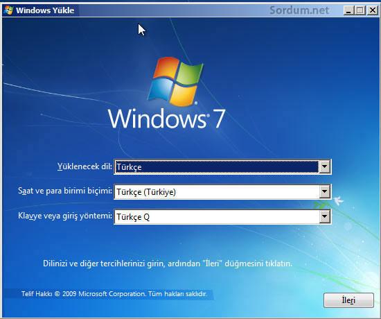 Windows yükleme ekranı