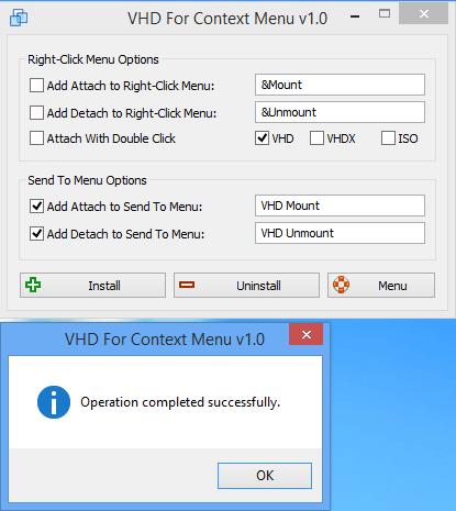 Add Attach /detach send to menu