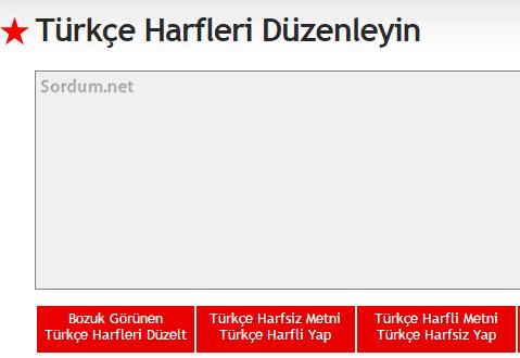 Türkçe karakter sitesi
