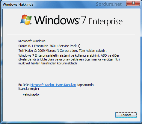 Windows7 enterprise