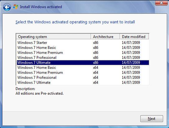 Windows 7 versionlari