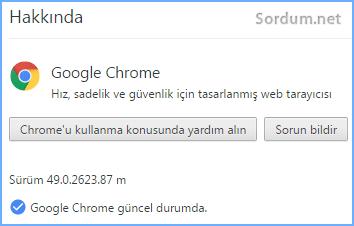 Chrome sürüm 49