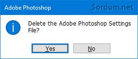 photoshop ayarlarını sıfırlamak