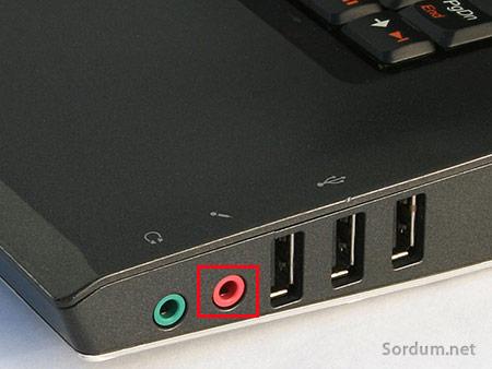 laptop mikrofon girisi
