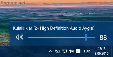 Windows 10 ses simgesi