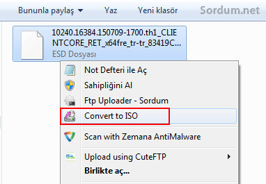 Convert to ISO