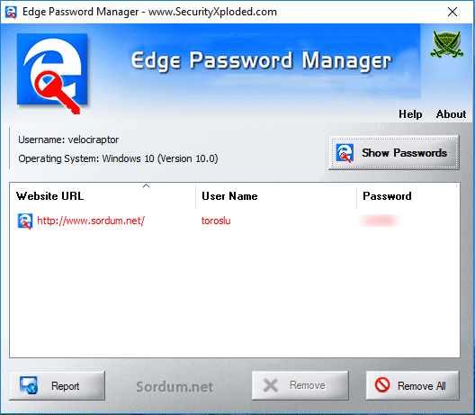 EDGE Password manager