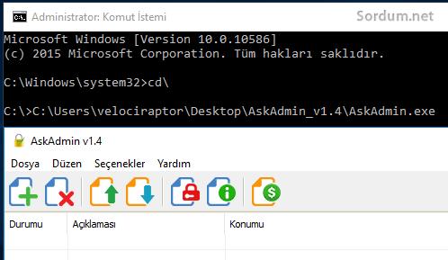 cmd den yazılım çalıştırmak