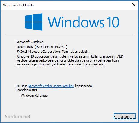 windows 1 anniversaty buncelleme incelemesi