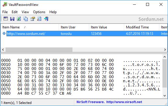 vaultpasswordview şifreler