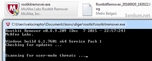 Mcafee rootkit remover