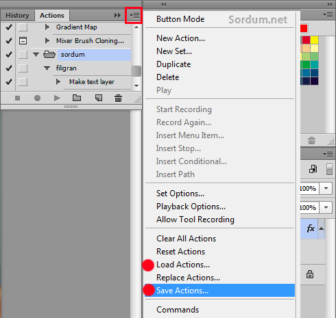 photoshop load save actions