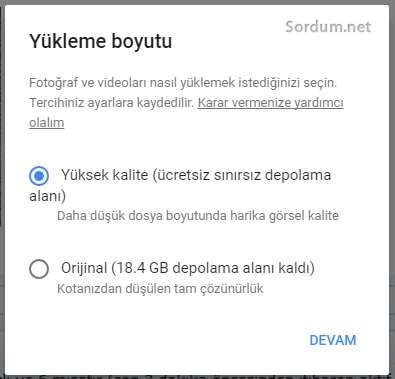 google photo limitsiz