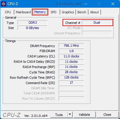Cpu-z dual channel